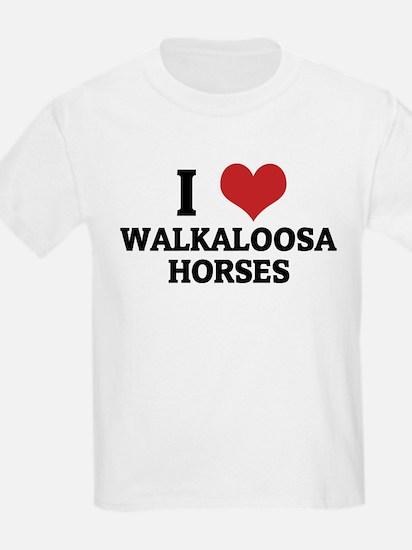 I Love Walkaloosa Horses Kids T-Shirt