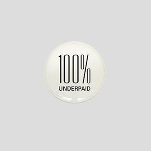 100% Underpaid Mini Button