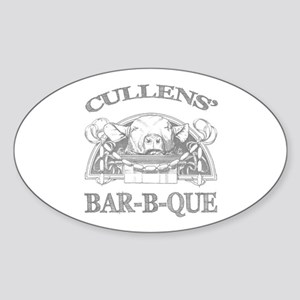 Cullen Family Name Vintage Barbeque Oval Sticker