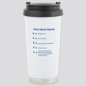 Hand Signals Stainless Steel Travel Mug