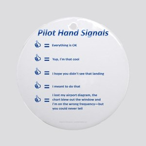 Hand Signals Ornament (Round)