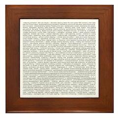 Techno-Power Words on Framed Tile