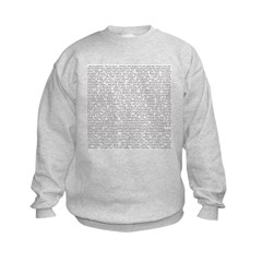 Techno-Power Words on Sweatshirt