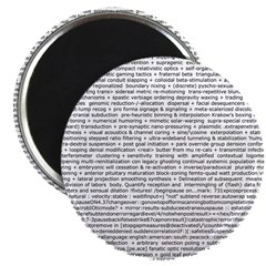 Techno-Power Words on Magnet