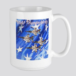 Thunderbirds, Flag Large Mug
