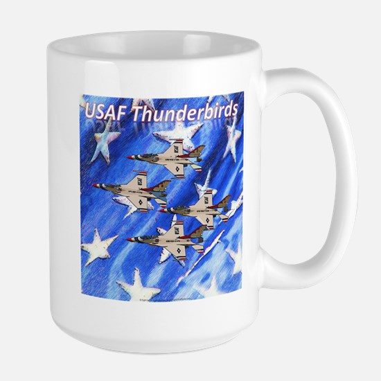 Thunderbirds, Flag Large Mug