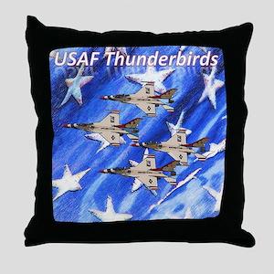Thunderbirds, Flag Throw Pillow