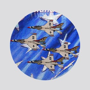 Thunderbirds, Flag Ornament (Round)