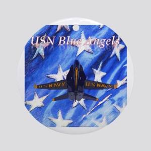 Blue Angels - Flag Ornament (Round)