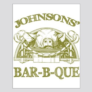 Johnson Family Name Vintage Barbeque Small Poster