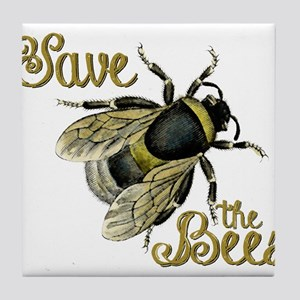 Save Bees Tile Coaster