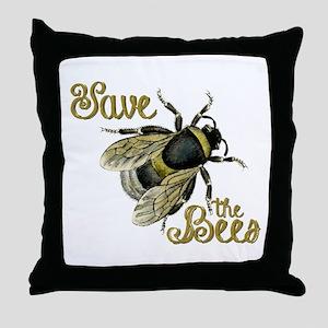 Save Bees Throw Pillow
