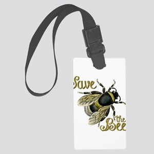 Save Bees Large Luggage Tag