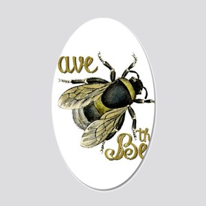 Save Bees 20x12 Oval Wall Decal