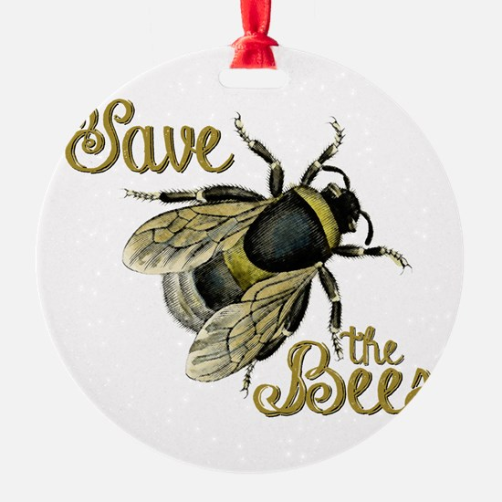 Save Bees Ornament