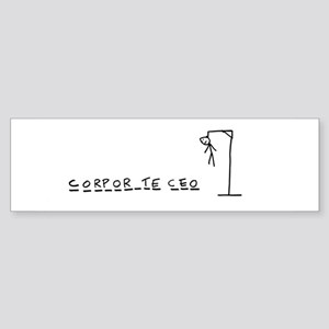 Corporate CEO hangman Bumper Sticker