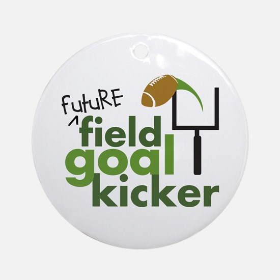 Future Field Goal Kicker Ornament (Round)