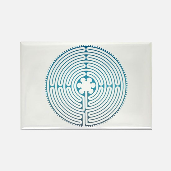 Chartre Labyrinth Rectangle Magnet