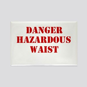 Danger Hazardous Waist Rectangle Magnet