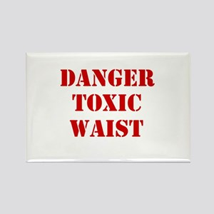 Danger Toxic Waist Rectangle Magnet