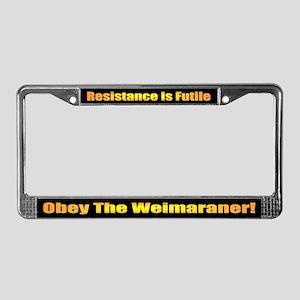 Weimaraner License Plate Frame