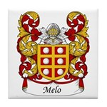 Melo Family Crest Tile Coaster