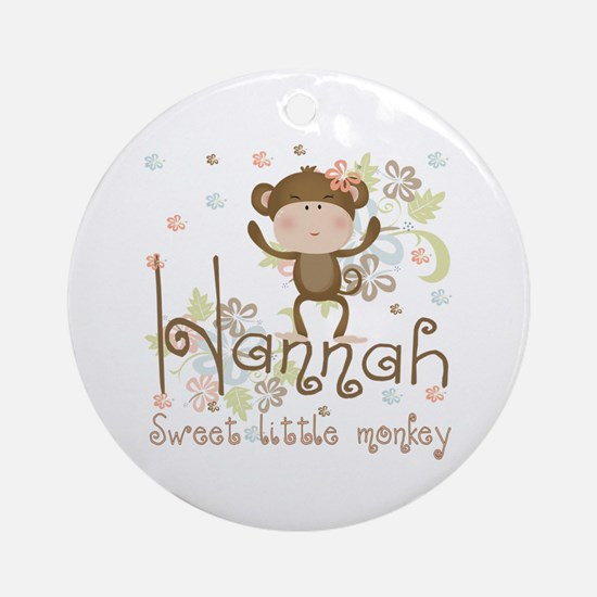 Adorable Hannah Monkey Ornament (Round)