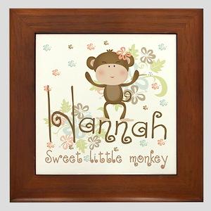 Adorable Hannah Monkey Framed Tile