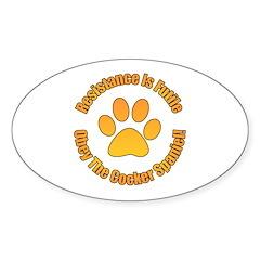 Cocker Spaniel Sticker (Oval 10 pk)