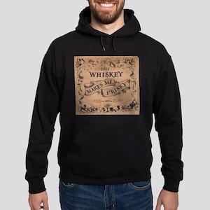 """""""Whiskey Makes Me Frisky"""" Hoodie (dark)"""