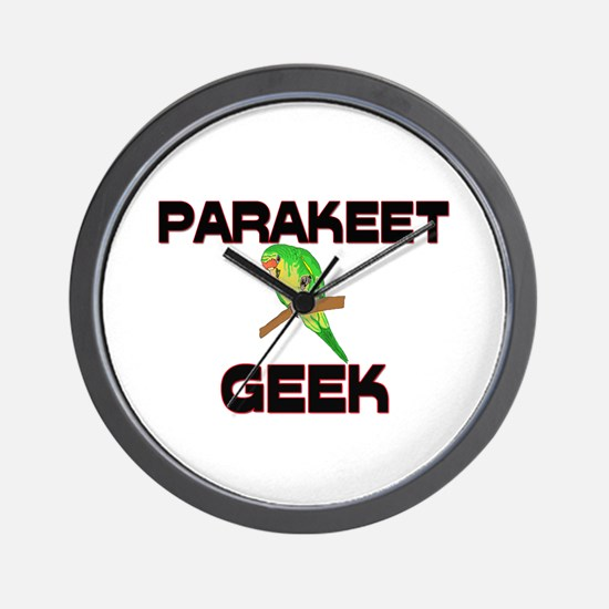 Parakeet Geek Wall Clock