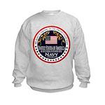 Navy Aunt Kids Sweatshirt