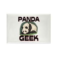Panda Geek Rectangle Magnet