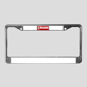 Harassment License Plate Frame