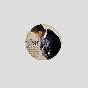Obama Praying Mini Button