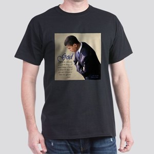 Obama Praying Dark T-Shirt