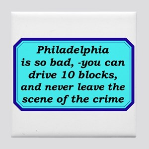 """Gotta Love Philly"" Tile Coaster"