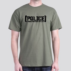 Police Proud Mother-in-law Dark T-Shirt