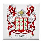 Moreira Family Crest Tile Coaster