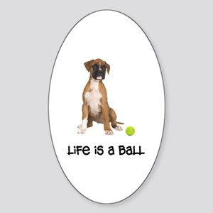 Boxer Life Oval Sticker