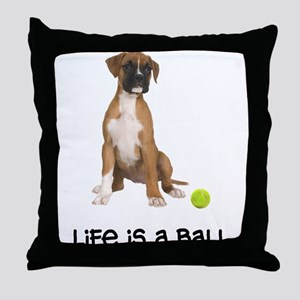 Boxer Life Throw Pillow