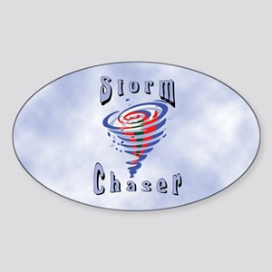 Storm Chaser 3 Oval Sticker