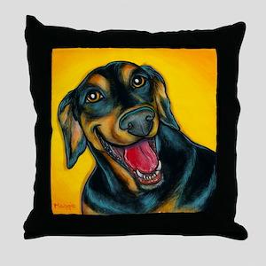 Doberman Pincher Throw Pillow