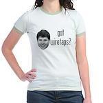 Blagojevich Got Wiretaps Jr. Ringer T-Shirt