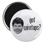 """Blagojevich Got Wiretaps 2.25"""" Magnet (100 pa"""