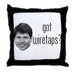 Blagojevich Got Wiretaps Throw Pillow