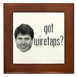 Blagojevich Got Wiretaps Framed Tile