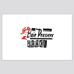 Hair Dressers Rock Large Poster