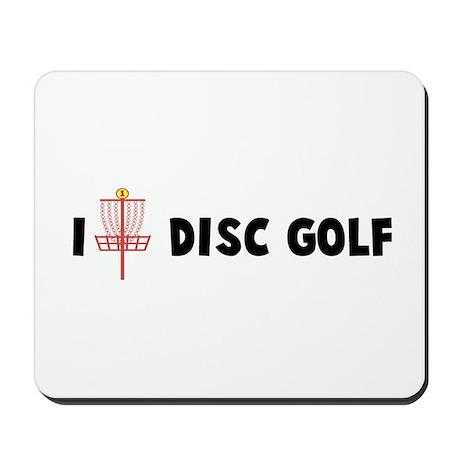 I (Heart) Disc Golf Mousepad