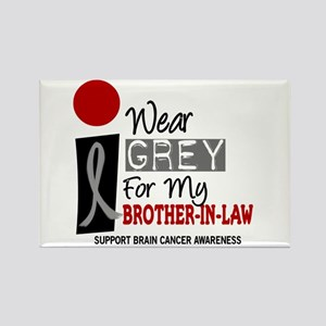 I Wear Grey For My Brother-In-Law 9 Rectangle Magn